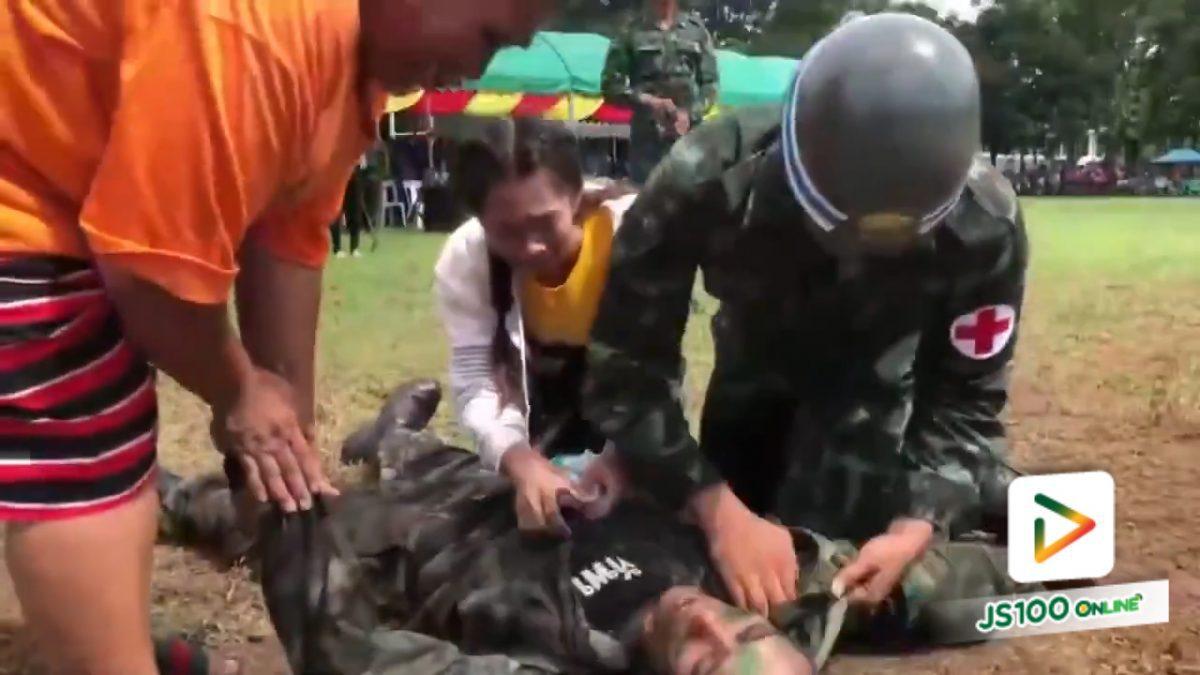 ทหารเกณฑ์แกล้งเป็นลม เซอร์ไพรส์ขอแฟนสาวแต่งงาน (27-5-61)