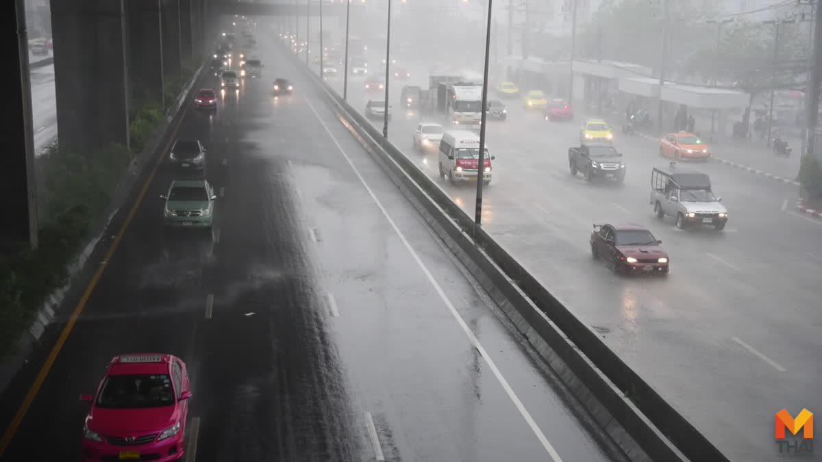 ฝนถล่มกรุงฯ การจราจรชะลอตัวบางจุดมีน้ำท่วมขัง