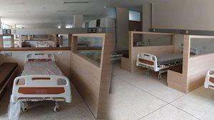 รพ.คูเมือง บุรีรัมย์ เผยภาพห้องผู้ป่วยเตียงรวม จากเงินบริจาค