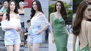 ขาวอะไรเบอร์นี้!!! ซูมดู เกรซ-ฐิสา สาวผิวสวย กับชุดสีเขียว ฟ้า ขาว