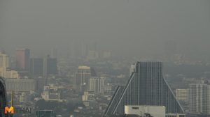 ภาพสุดสะพรึง! ฝุ่น PM 2.5 ปกคลุมทั่วกรุง