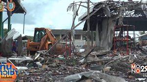 เกิดเหตุเพลิงไหม้-อาคารถล่มตลาดสดเชียงยืน เสียหายกว่า 45 ล้าน