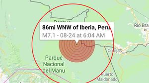 เกิดแผ่นดินไหวรุนแรงที่เปรู  เบื้องต้นไม่ยังเตือนสึนามิ ไร้รายงานเสียหาย