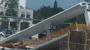 สะพานลอยหน้ามหาวิทยาลัยฟลอริดา ถล่มทับรถมีผู้เสียชีวิต 1 รายเจ็บ 6 ราย