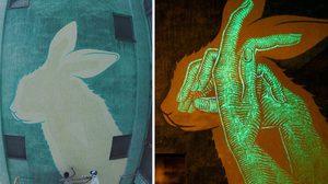 งานสตรีทอาร์ตเรืองแสง ผลงานโดย Reskate Studio