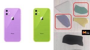 หลุดชิ้นส่วน ที่คาดว่าเป็นกระจกหลังของ iPhone XR 2019 เผยสีใหม่ชัดเจน