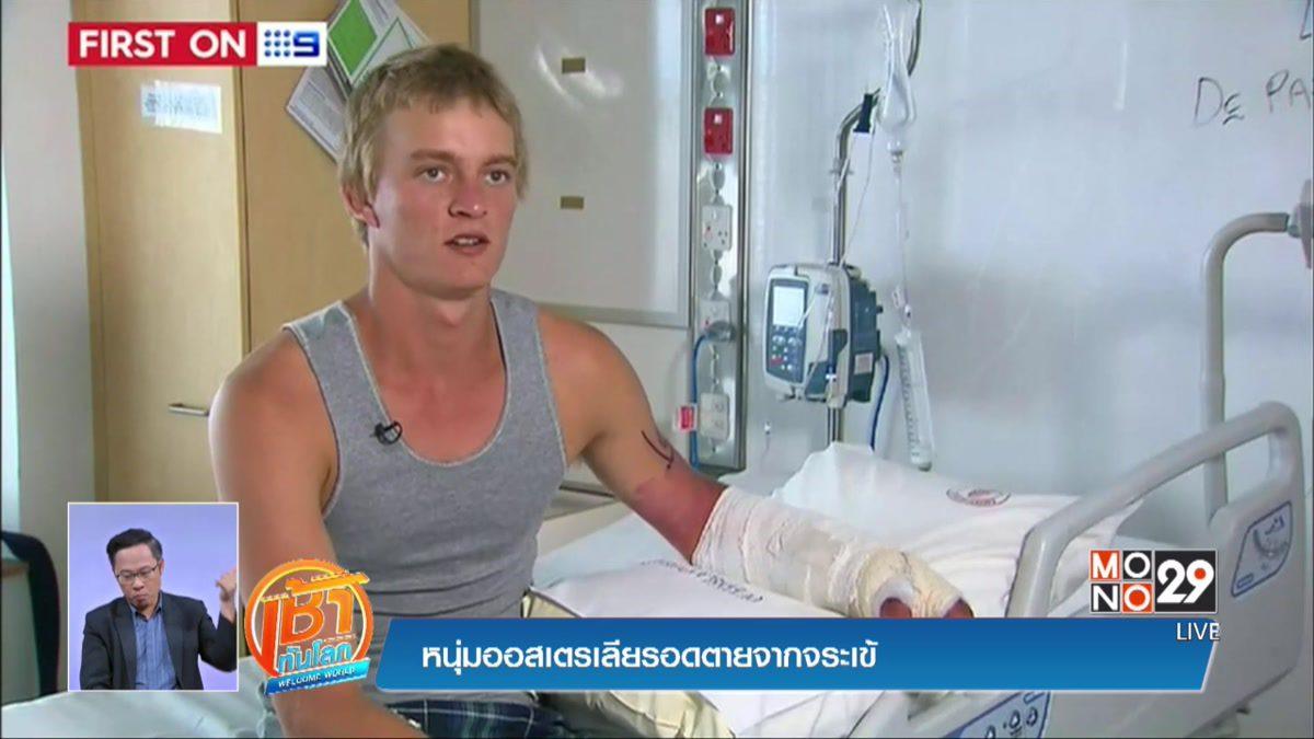 หนุ่มออสเตรเลียรอดตายจากจระเข้