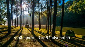 รายชื่ออุทยานแห่งชาติ ในประเทศไทย