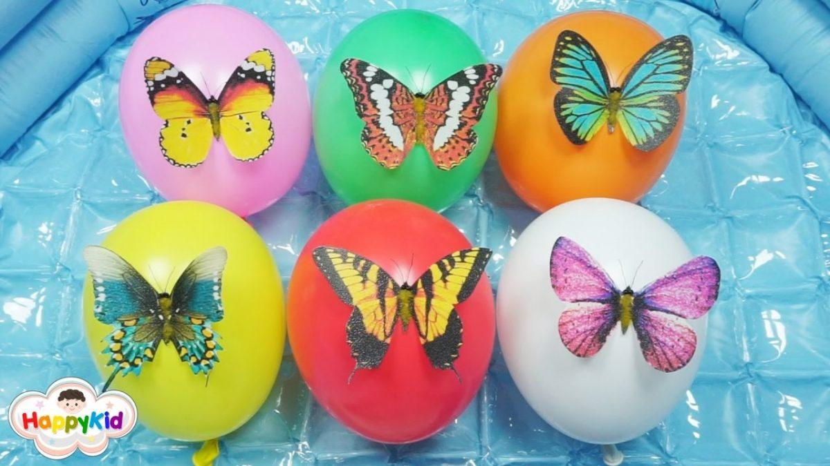 เพลง นิ้วโป้งอยู่ไหน #5 | เจาะลูกโป่งผีเสื้อ |เรียนรู้สี | Learn Color With Butterfly Balloon