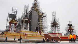 รองนายกฯ ตรวจการก่อสร้างพระเมรุมาศ ร.9 คืบหน้าร้อยละ 70