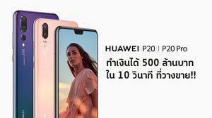 มาแรง!! Huawei P20 / P20 Pro ทำเงินได้กว่า 500 ล้านบาท ทันทีที่วางขายทางออนไลน์เพียง 10 วินาที