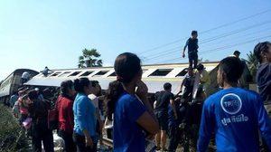คืบหน้า!10ล้อขนวัวชนรถไฟเพชรบุรี จนท.เร่งซ่อมราง