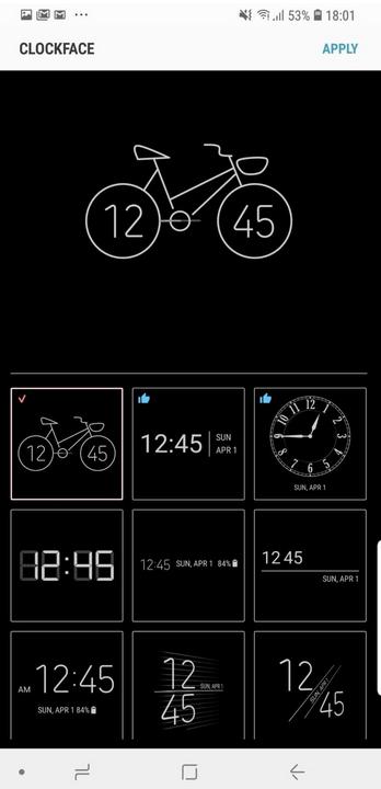 Clock face ใหม่ของ Samsung