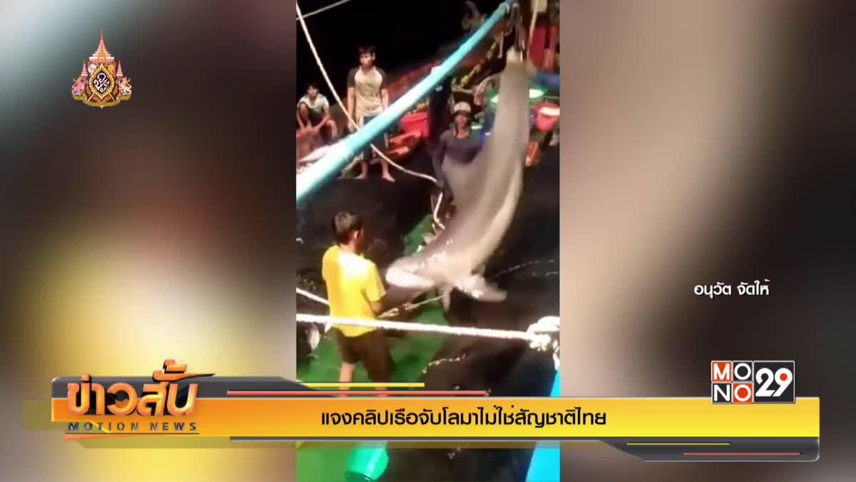 แจงคลิปเรือจับโลมาไม่ใช่สัญชาติไทย