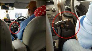 แบบนี้ก็ได้เหรอ แท็กซี่แขวนปืนไว้หน้ารถ ขณะให้บริการรับส่งผู้โดยสาร