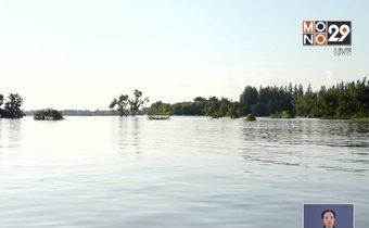 น้ำท่วมอุบลฯ กระทบผู้เลี้ยงปลากระชัง