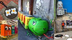 งานสตรีทอาร์ตสวยๆ ตามท้องถนนในกรุงนิวยอร์ก ซิตี้ สร้างสรรค์โดยศิลปิน Tom Bob