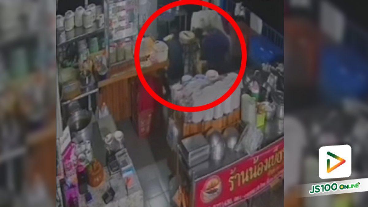 วัยรุ่นชาย 2 คน ขโมยทรัพย์สินในร้านค้า จ.ปทุมธานี (12/12/62)