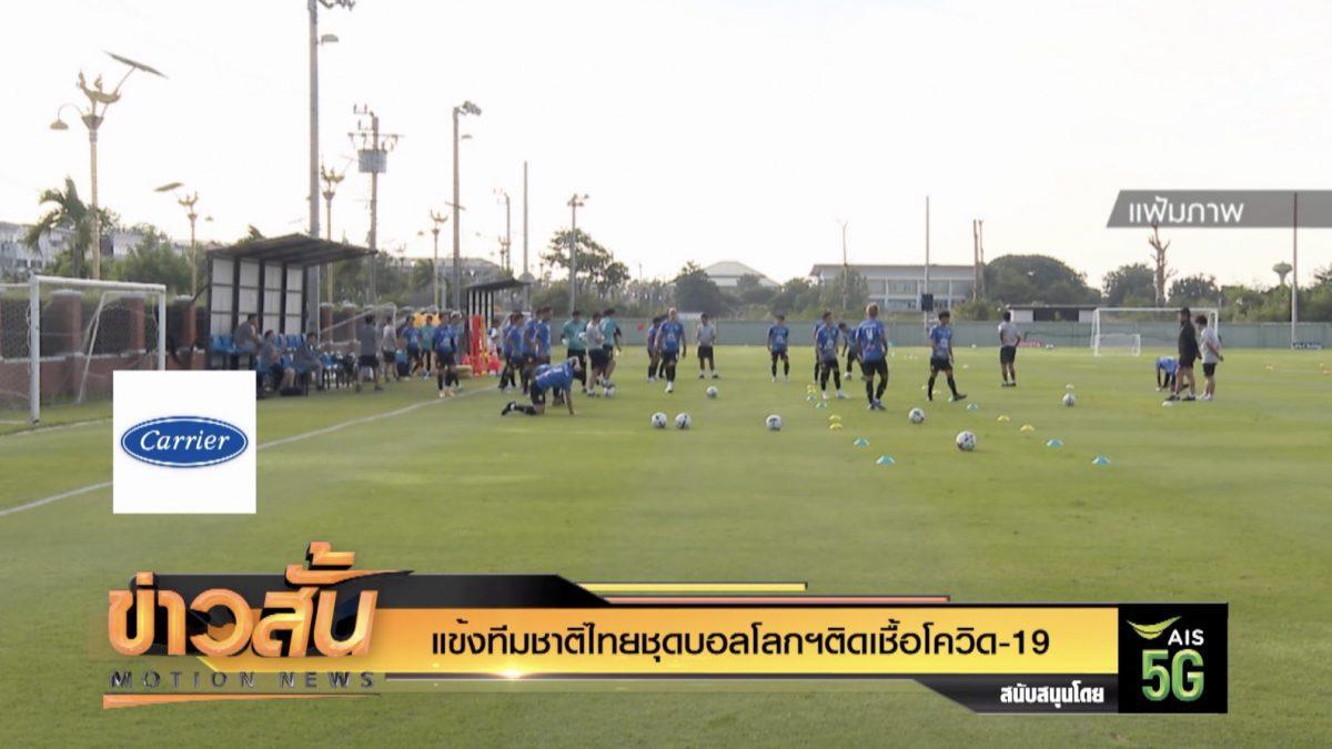 แข้งทีมชาติไทยชุดบอลโลกฯติดเชื้อโควิด-19