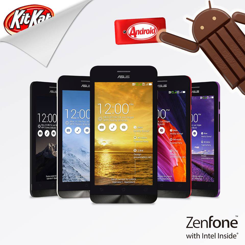 ZenFone Kitkat Now