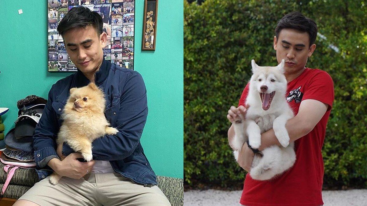 """มุมคิวท์ ๆ ของ """"ต๊ะ พิภู"""" กับน้องหมาตัวโปรด – เขาเป็นส่วนหนึ่งในชีวิตเรา"""