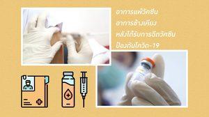 อาการแพ้วัคซีน อาการข้างเคียง หลังได้รับการฉีดวัคซีน ป้องกันโควิด-19