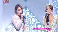 140308 Ailee & Hyorin(SISTAR) - Let it go @ Celebration 400th Show Music core