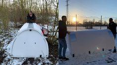 วิศวกร สร้างโดมที่พักแจกโฮมเลส ฟรีๆ ช่วยเหลืออากาศหนาว