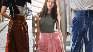 กางเกงเอวสูง ผ้ากำมะหยี่ ไอเทมที่แมทช์ให้หรูก็ได้ หรือจะวินเทจก็ดี