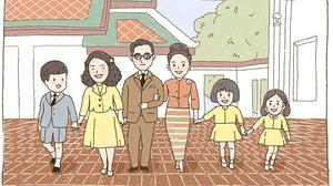 ลายเส้นน่ารัก ! พระบรมสาทิศลักษณ์ รัชกาลที่ 9 จากนักวาดการ์ตูนไทย