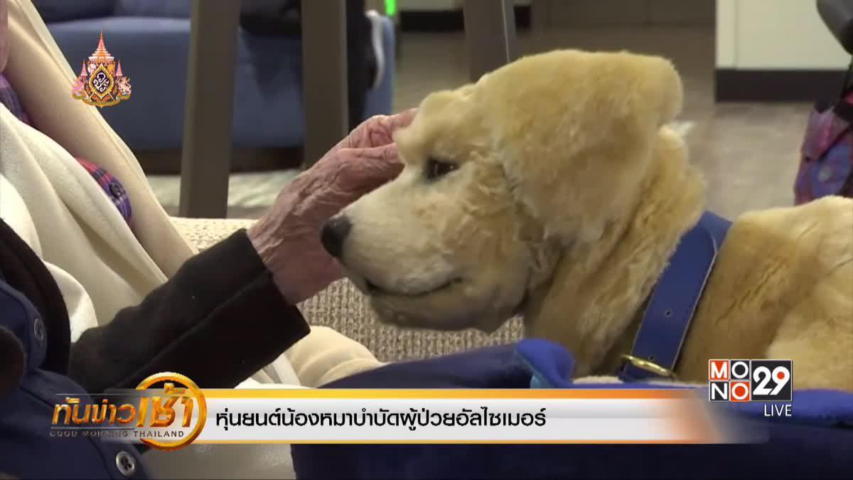 หุ่นยนต์น้องหมาบำบัดผู้ป่วยอัลไซเมอร์