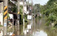 อุบลฯยังมีน้ำท่วมหลายพื้นที่ แม้สถานการณ์โดยรวมดีขึ้น