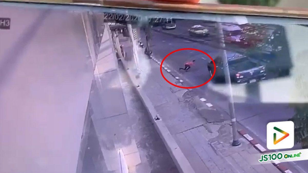 ต้องระวังขนาดไหน เมื่อมีคนตั้งใจจะกระโดดให้รถชน (22-2-63)