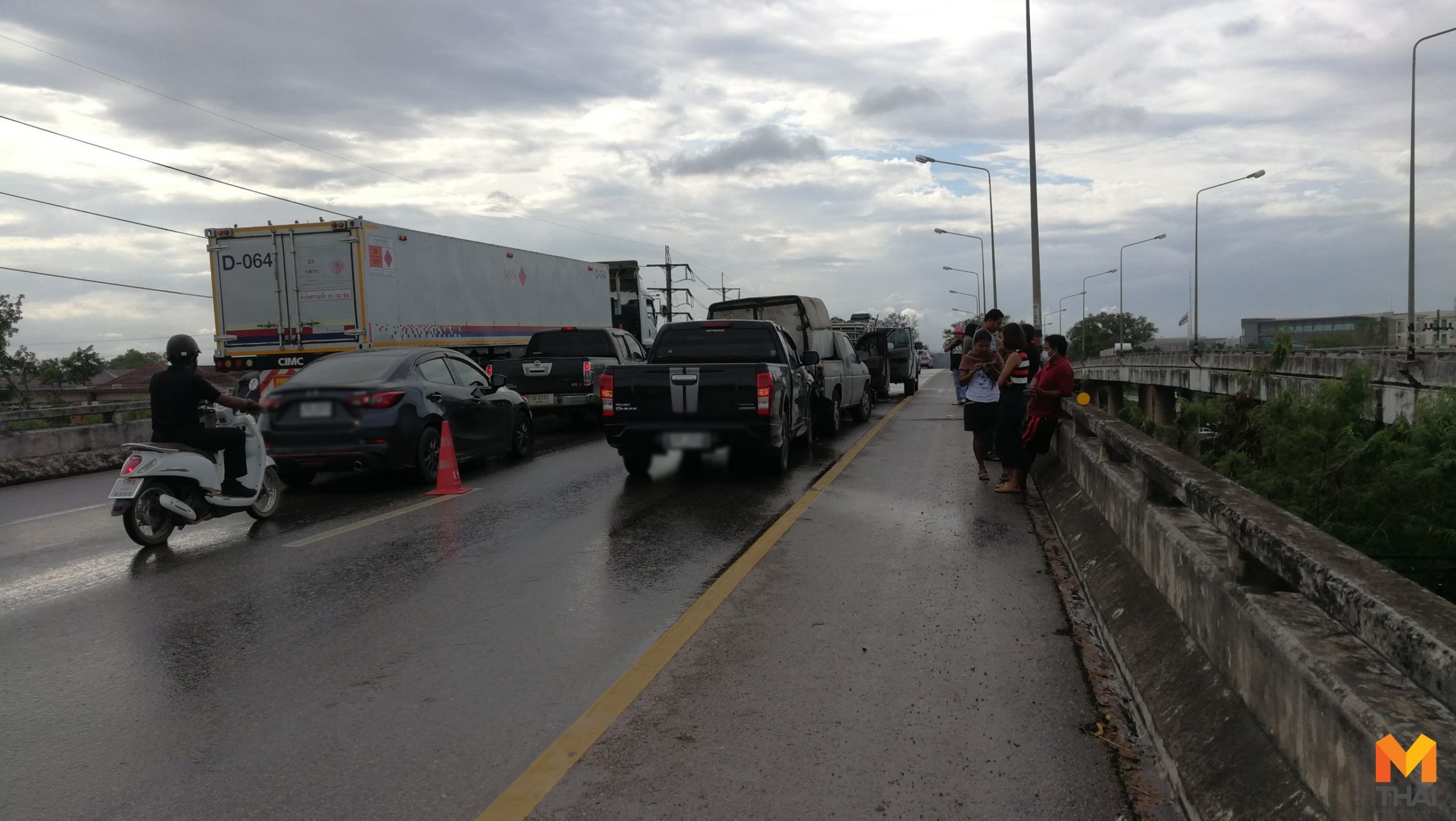 รถชนกัน 7 คันรวด!! กลางสะพานถนนสาเอเชีย ขาออกหาดใหญ่