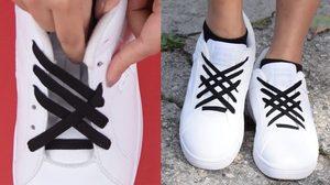 เห้ยจริงดิ! เปลี่ยนสไตล์ง่ายๆ ด้วยการเปลี่ยนวิธีผูกเชือกรองเท้า