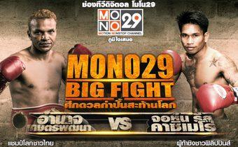 ลงทะเบียนและรับบัตรเข้าชม  MONO29 BIG FIGHT ศึกดวลกำปั้นสะท้านโลก