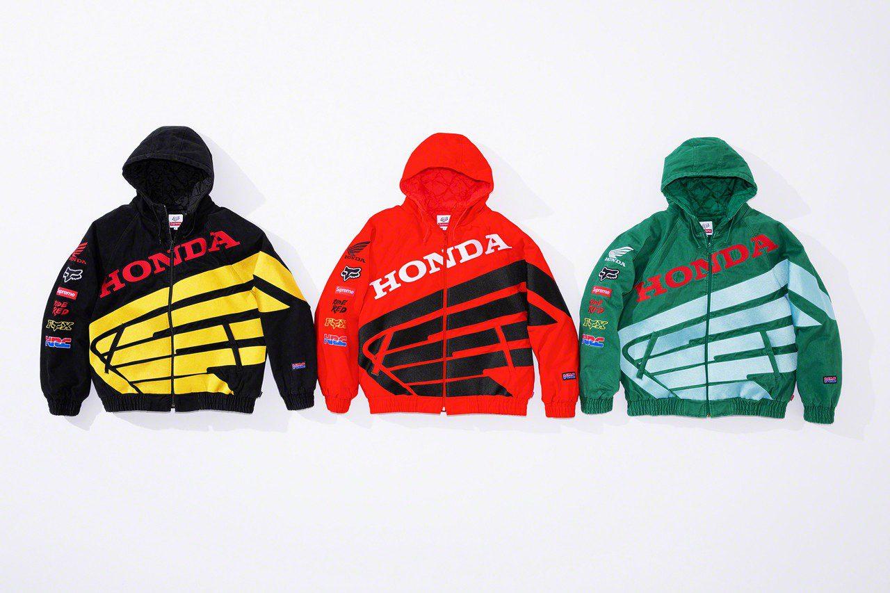 """Supreme Box Logo, Honda Racing Corporation (HRC), Honda """"Wings"""" และ Fox Racing"""