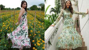 ญาญ่า อุรัสยา ปรับลุคให้เป็นสาวคูล ที่ดูสดใส ด้วยเสื้อผ้าลายดอก