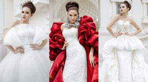 3 ลุคสวยเฟียส! หญิง รฐา ในชุดแต่งงานสุดหรู วนัช กูตูร์