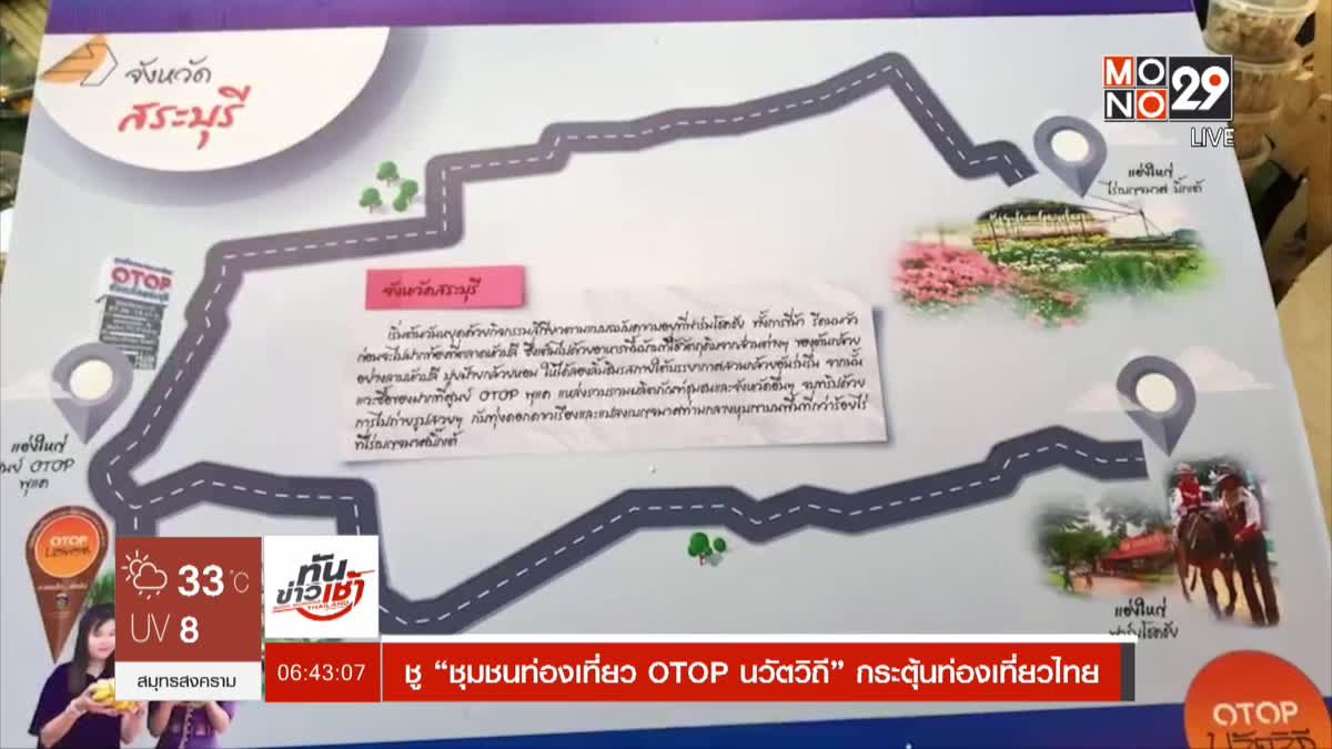 """ชู""""ชุมชนท่องเที่ยว OTOP นวัตวิถี""""กระตุ้นท่องเที่ยวไทย"""
