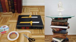 ขั้นตอนการทำ โต๊ะกระจก ขนาดเล็กสไตล์คลาสสิกจากหนังสือเล่มเก่าด้วยตัวเอง