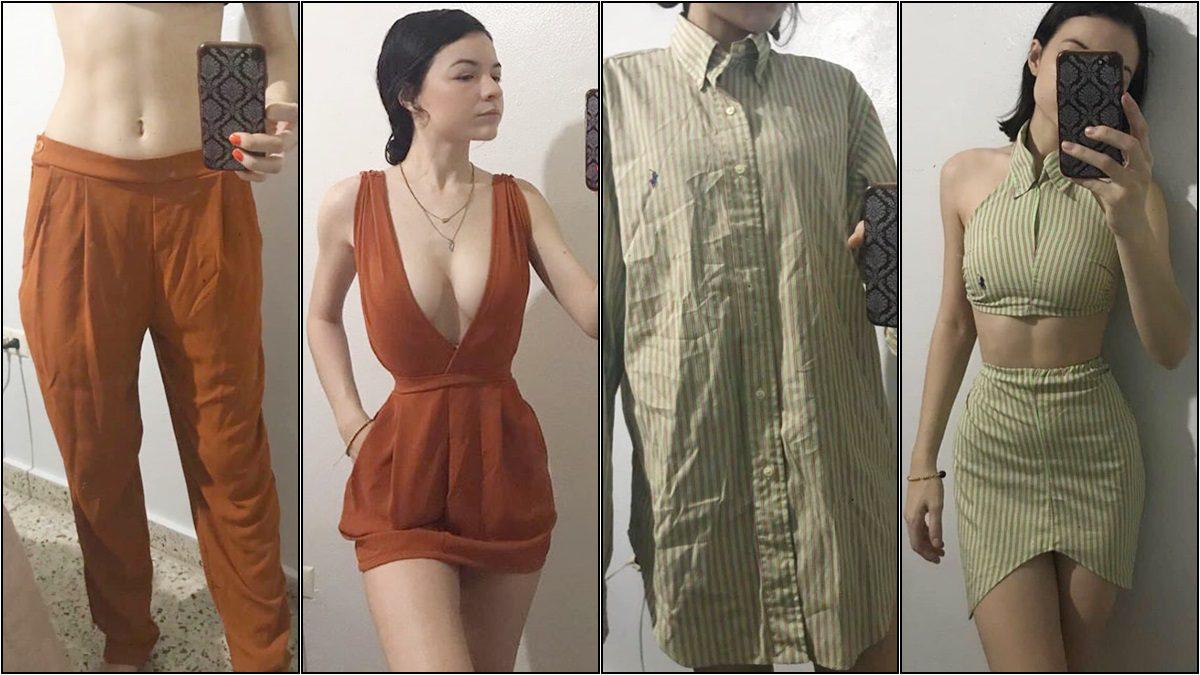 สาวนักตัด เปลี่ยนเสื้อผ้ามือสองสุดเชย ให้กลายเป็นชุดใหม่เปรี้ยวปรี๊ด ด้วยตนเอง