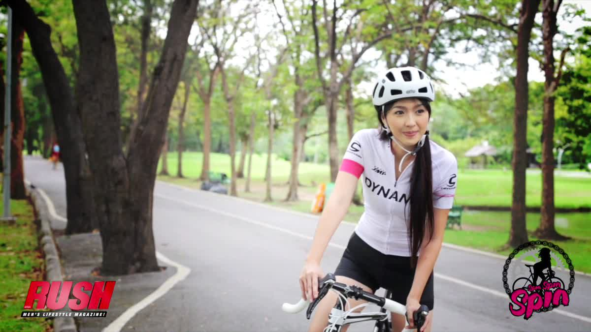 Spin Spin น้องดาว ธันญ์วริน กิตติธรรมกูล สาวนักปั่นจากทีม Dynamic lady cycling