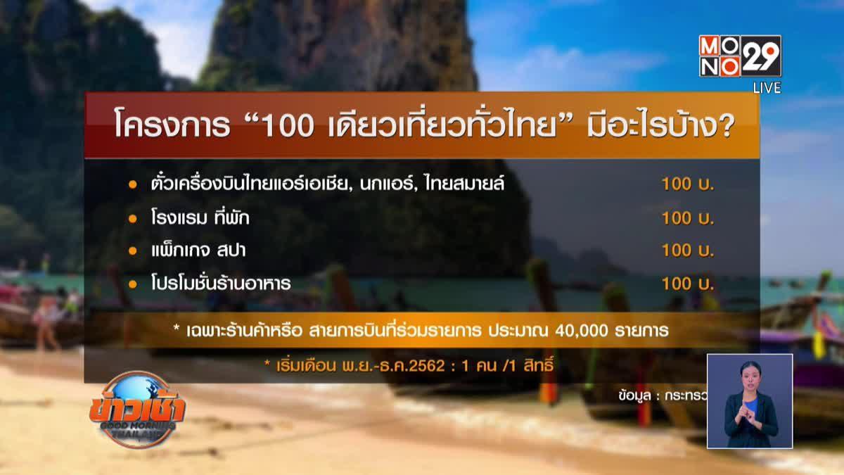 """เปิดวิธีสมัคร""""100 เดียวเที่ยวทั่วไทย"""""""