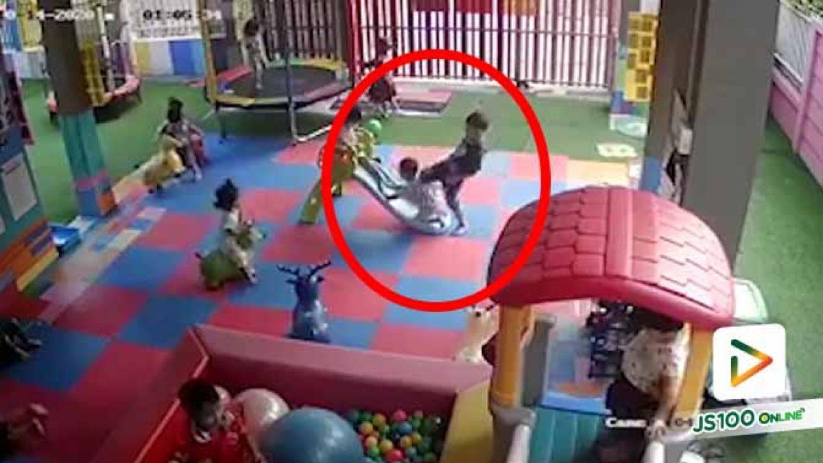 พี่เลี้ยงหรือคุณครูหายไปไหน ทำไมปล่อยให้เด็กใช้ความรุนแรงแบบนี้?!