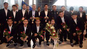 โต๊ะเล็กช้างศึก ฟุตซอล ทีมชาติไทย พร้อมคณะเดินทางกลับถึงบ้านแล้ว!