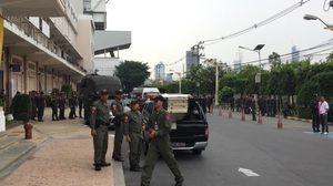 ตำรวจ-ทหาร ตรวจเข้มพื้นที่จัดฟุตบอลประเพณีจุฬาฯ-ธรรมศาสตร์