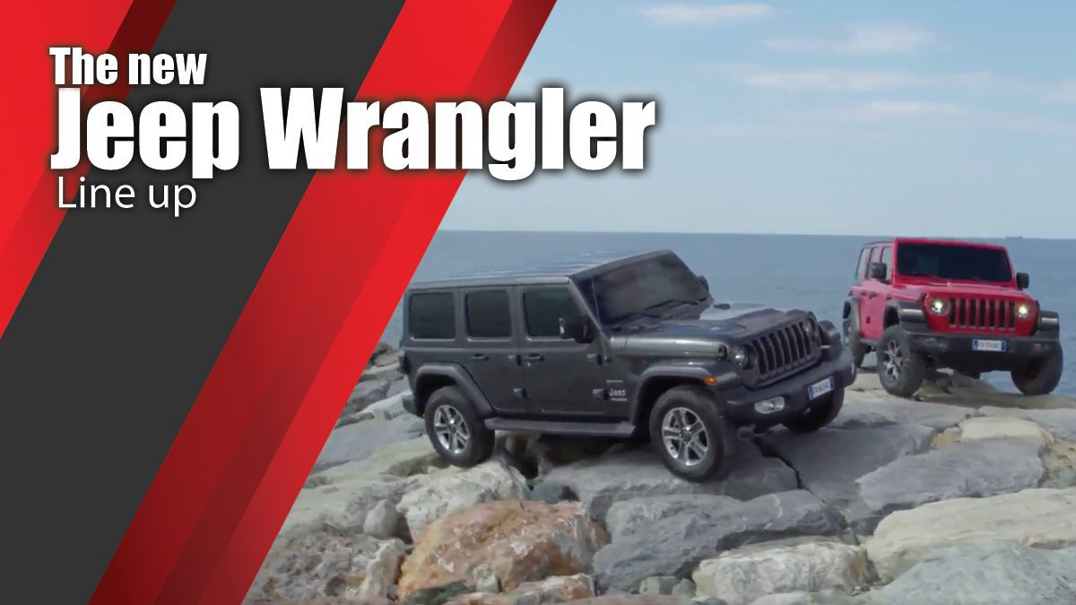 The new Jeep Wrangler Line up