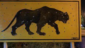 พบอีก! รูปเสือดำ สัญลักษณ์เรียกร้องความเป็นธรรมโผล่ที่ ราชบุรี