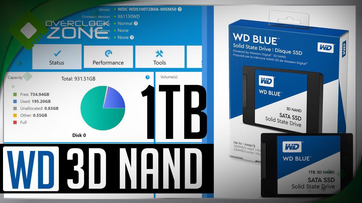 รีวิว 3D NAND SSD โดย WD Blue 3D NAND SSD 1TB